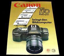 CANON T70 poster manifesto Camera Macchina Fotografica Reflex 35 mm SLR  F6