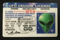 UFO Cruisin License Alien Driver Route 66 Novelty ID Card