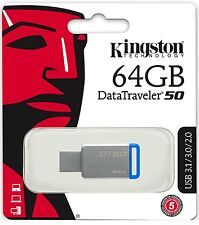 Kingston 64GB USB DataTraveler 50 64G USB 3.1 Flash Pen Drive DT50/64GB Retai