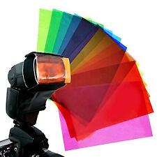 12pc Strobist Flash Color card diffuser Lighting Gel Pop Up Filter for Speedlite