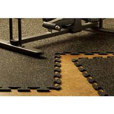 EZ Flex Interlocking Recycled Rubber Floor Tiles by Mats Inc. #38 (1122)