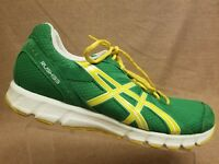 Asics T1H2N Rush33 Men Green Yellow Sport Running Athletic Shoes Size 13