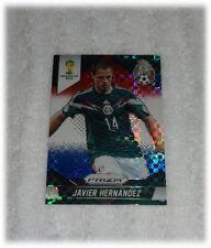 2014 Panini Prizm World Cup Red Blue Plaid Javier Hernandez - Mexico #148