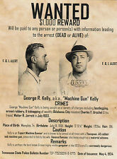 "*Postcard-""Wanted--George R. Kelley"" ...(aka;Machine Gun Kelley/ (B330)"