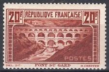 """FRANCE STAMP TIMBRE 262A """" PONT GARD 20F CHAUDRON TYPE I """" NEUF xx TB   M264"""
