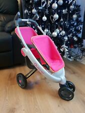 SMOBY QUINNY Maxi Cosi Twin Double Doll Pushchair Toy Buggy Pram PINK