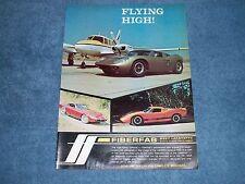 1968 Fiberfab Vintage Color Ad Valkyrie Jamaican Avenger GT-12 Kit Cars