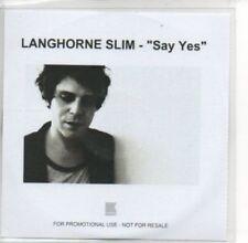 (AE943) Langhorne Slim, Say Yes - DJ CD