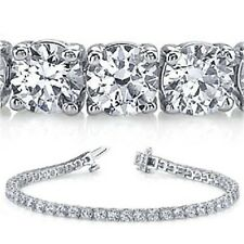 11.42 carat ROUND DIAMOND TENNIS BRACELET 18k white Gold 38 x 0.30 ct GIA E-F VS