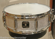 "GRETSCH CATALINA CLUB 14"" SNARE DRUM in WHITE PEARL for DRUM SET LOT #G168"