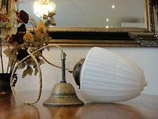 Deckenlampe Jugendstil Hängelampe Messing Antik Pendelleuchte Glas Art déco Edel