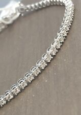 Solid 18ct White Gold Diamond Tennis Bracelet 1.5ct 9gram 7.5""