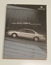 2003 MERCURY SABLE OWNERS MANUAL GUIDE V6 3.0L FLEX-FUEL LS GS SEDAN WAGON OEM