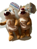 """Walt Disney World Chip and Dale 7"""" Plush Bean Bag Toys With Tags"""