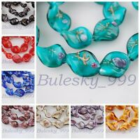 10pcs 20X17mm Big Lampwrok Glass Charms Loose Spacer Beads Jewelry Findings
