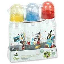 Mickey Mouse Three Pack Deluxe 9 oz Bottle Set Baby Disney New Assorted