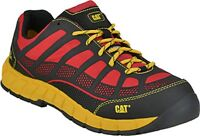 CAT Shoes: Men's Composite Toe EH Non-Metal Streamline Work Shoes RED/BLACK