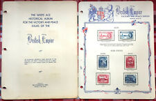 OMNIBUS COLLECTION OF BRITISH COMMONWEALTH 1946 VICTORY & PEACE ISSUE MINT