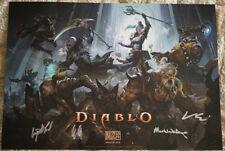 Blizzcon 2018 Diablo III 3 Signed Mini Poster