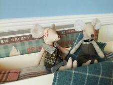 New Maileg Toys Mouse Mice Grandpa and Grandma in Matchbox & Bedding NIB
