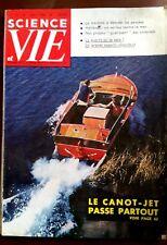 Science et vie n°515 du 8/1960; Le Canot-Jet passe partout/ Détecter les pensées
