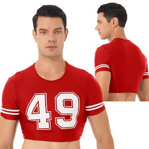 Men's T-Shirt Crop Top Short Sleeve Basic Sports Shirt Tee tshirt New Tee M