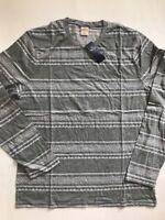 NEW HOLLISTER Co. Men's Long Sleeve Crew Neck Tshirt Top Shirt Gray sz XL