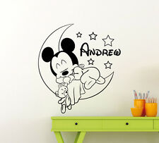 Personalized Minnie Mouse Wall Decal Vinyl Sticker Custom Nursery Art Mural 34me