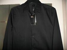 H&M Negro SlimFit Camisa S nuevo con etiquetas