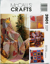 McCalls 3901 Rag Throws & Pillow Sewing Craft Pattern ***