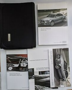 AUDI A4 S4 SALOON AND AVANT HANDBOOK OWNERS MANUAL 2011-2015 WALLET PACK L-421