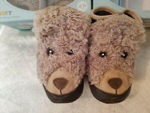Robeez 3D Brown Bear Cinnamon/Brown sizes 12-18 & 18-24months NEW Thermolite