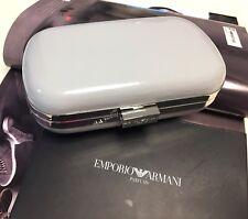 GIORGIO ARMANI Light Grey Pouch Clutch Evening Bag New RARE & ELEGENT New in Box