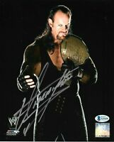 WWE THE UNDERTAKER HAND SIGNED AUTOGRAPHED 8X10 PHOTO WITH PROOF BECKETT COA 6