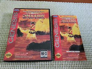 Samurai Shodown - Authentic - Sega Genesis - Case / Box and Manual Only!