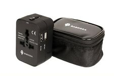 World Wide Universal Travel Adapter Multi Plug Charger With Dual USB 2 PORT Hot
