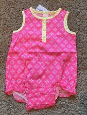Girls Pink Yellow Sleeveless Romper 3 Months