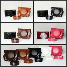 Leather Pouch Camera Case Bag Cover For SONY Cyber-shot DSC-HX90V HX90 WX500