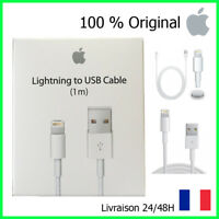 CÂBLE 1M ORIGINAL IPHONE 5/5C/5S/6/6S/6+/7/7+/8/X CHARGEUR APPLE LIGHTNING USB