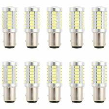 10x 1157 BAY15D LED Bulb 6000K White 5630 Stop Tail Signal Reserve Brake Lights