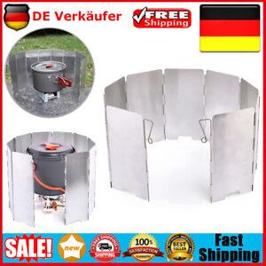 Faltbar Windschutz fur Campingkocher Gaskocher Aluminium Windschutz 9 Platte