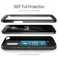 LG Stylo 3 Case,Poetic TPU Bumper Drop Protection w/Built-in-Screen Cover Black