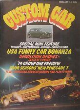 Custom Car magazine 02/1974 featuring Norton Commando 850