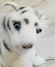 """Fiesta White Tiger Plush Stuffed Animal Blue Eyes 13"""""""