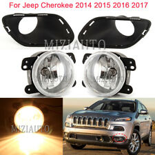 Fog Lights Cover Bezel For Jeep Cherokee 2014 2015 2016 2017 Bumper Driving Lamp