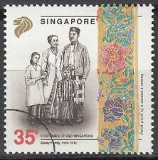 Specimen, Singapore Sc628 Traditional Costume 1910, Malay Family