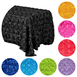 Rosette 3D Floral Table linen cover, party supplies, home decor, table top
