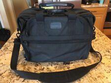 Tumi Laptop Bag Briefcase Black Ballistic Nylon Expandable 206D3