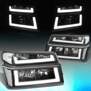 FOR 2004-2012 COLORADO CANYON PAIR LED DRL HEADLIGHT BUMPER LAMPS BLACK/CLEAR