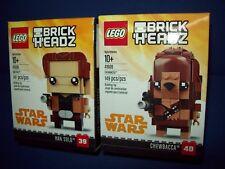 LEGO Star Wars Brickheadz Lot 41608 41609 HAN SOLO & 39 CHEWBACCA 40 NIB Fgure